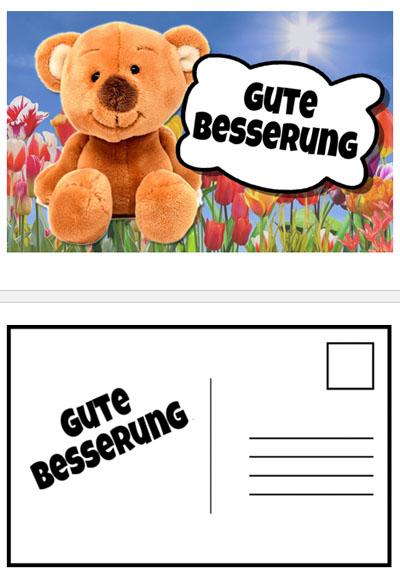 Gute Besserung wünscht der Teddybär