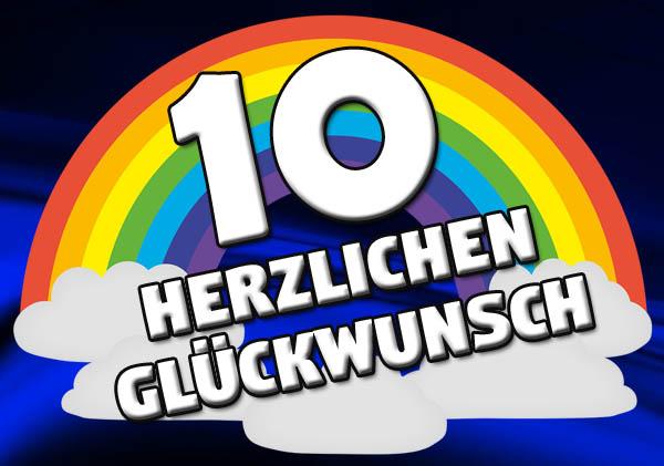Regenbogen zum 10. Geburtstag
