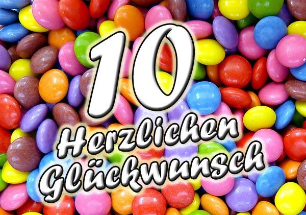 Süßigkeiten zum 10. Geburtstag