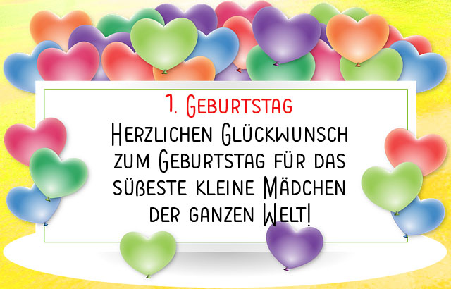 1. Geburtstag Wünsche für Mädchen