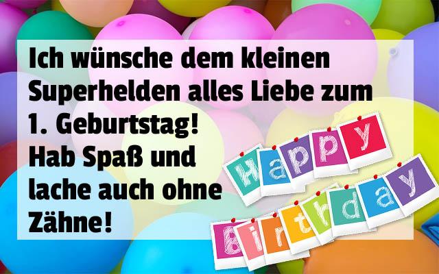 Herzliche Grüße zum 1. Geburtstag