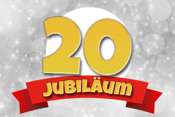 Glückwünsche zum 20. Firmenjubiläum