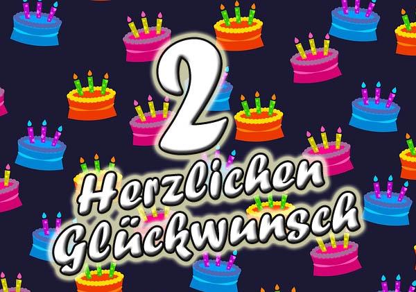 Geburtstagstorten zum 2ten Geburtstag