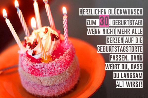 WhatsApp Glückwünsche zum 30. Geburtstag