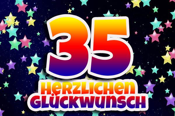 Sterne zum 35. Geburtstag