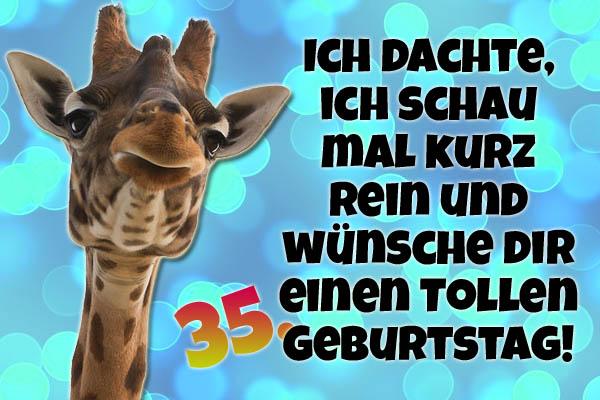 Lustiges Bild zum 35. Geburtstag