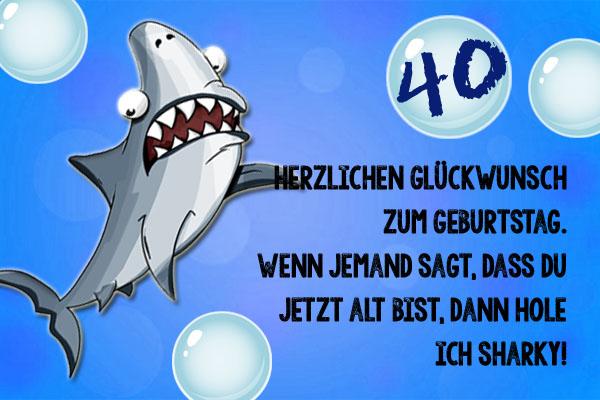 Witzige Glückwünsche bringt der Hai