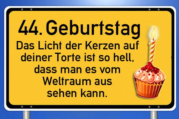 Lustiges Schild zum 44. Geburtstag