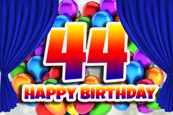WhatsApp Glückwünsche zum 44. Geburtstag