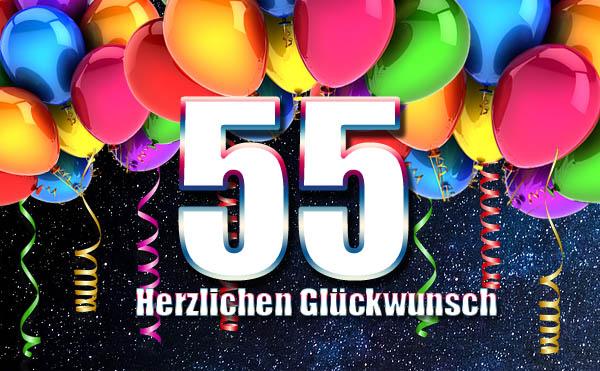 Party zum 55. Geburtstag