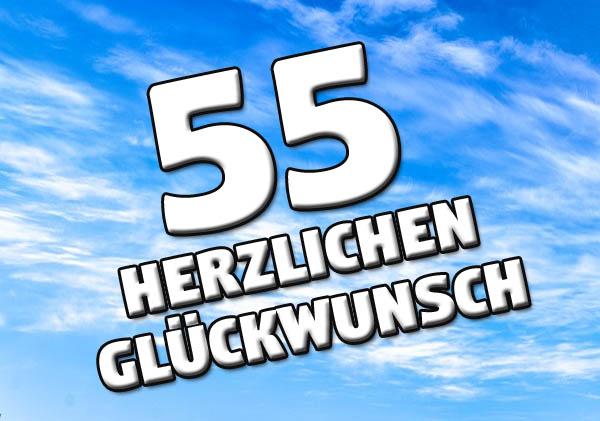 Blauer Himmel zum 55. Geburtstag