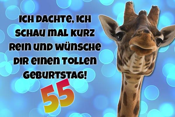 Witzige Giraffe zum 55. Geburtstag