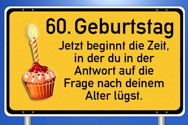Lustiges Bild zum 60. Geburtstag