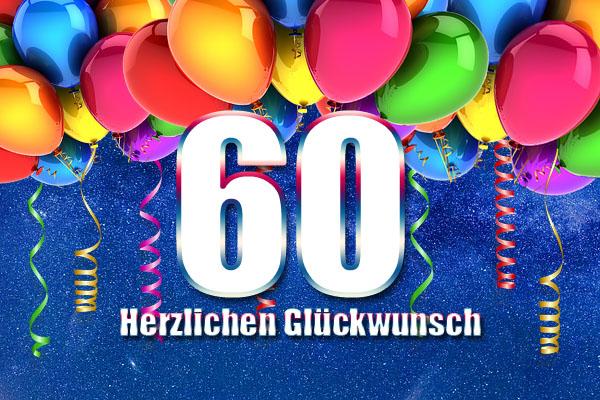 60. Geburtstag Wunsch für Männer