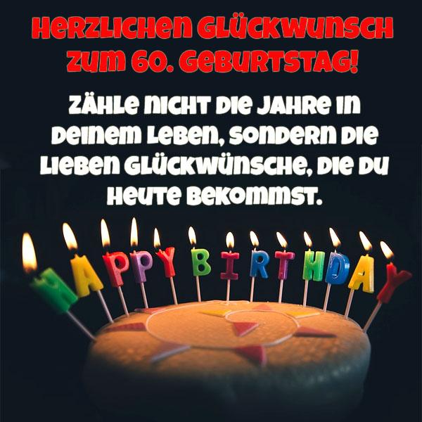 WhatsApp Spruch zum 60. Geburtstag