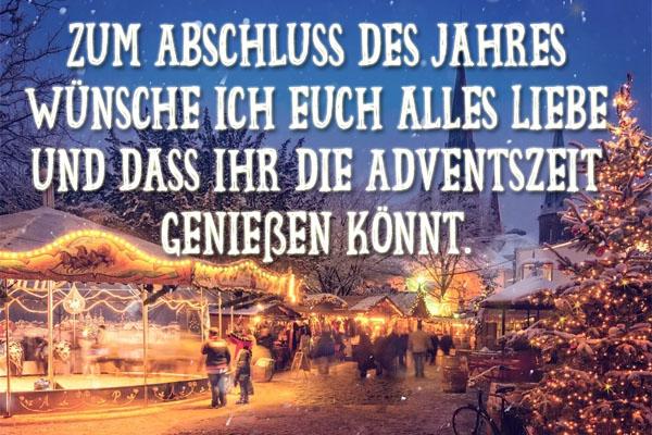 Adventsgrüße auf dem Weihnachtsmarkt