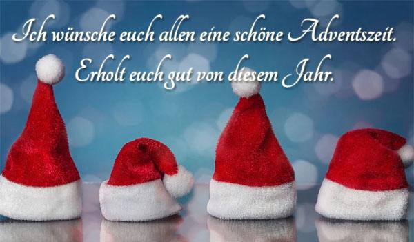 4 Nikolausmützen bringen Grüße