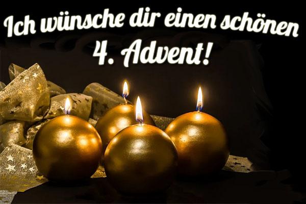 Goldene Kerzen zum 4. Advent