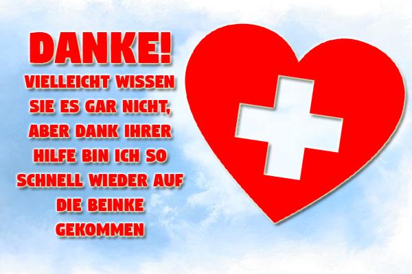 Danke an Krankenschwester mit Herz