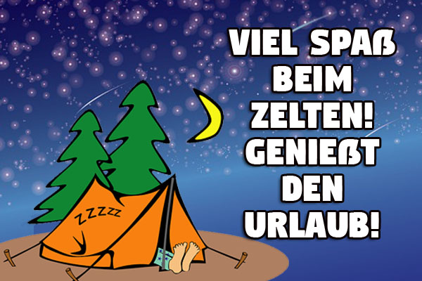 Camping Urlaubswünsche