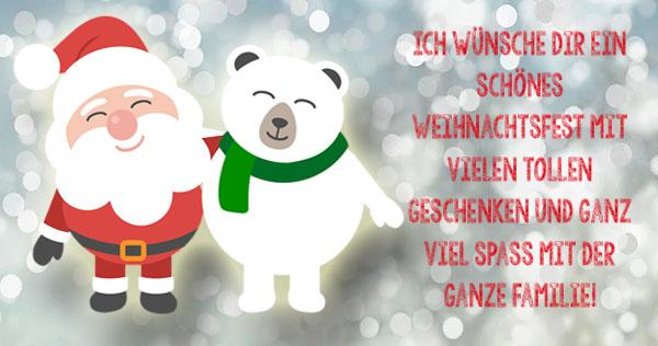 Weihnachtsgrüße für kleine Kinder