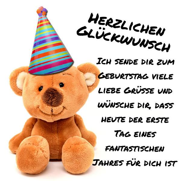 Süßes WhatsApp Bild zum Geburtstag