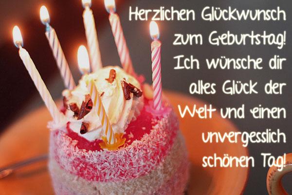 Geburtstagstorte als Glückwunsch