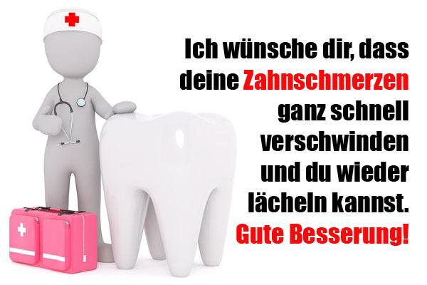 Zahnschmerzen Gute Besserung
