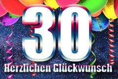 30. Geburtstag Glückwünsche