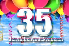 35. Geburtstag Glückwünsche