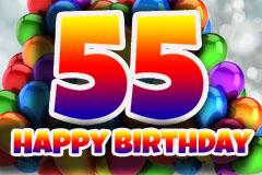 55. Geburtstag Glückwünsche